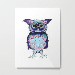 Small Scrappy Owl Metal Print