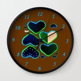 Heart of greenery Wall Clock