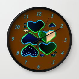 Heart of greenery Wall Clock