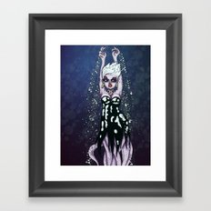 Ursula the Sea Witch Little Mermaid Octopus RonkyTonk Framed Art Print