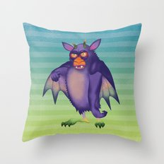Batsquatch Throw Pillow