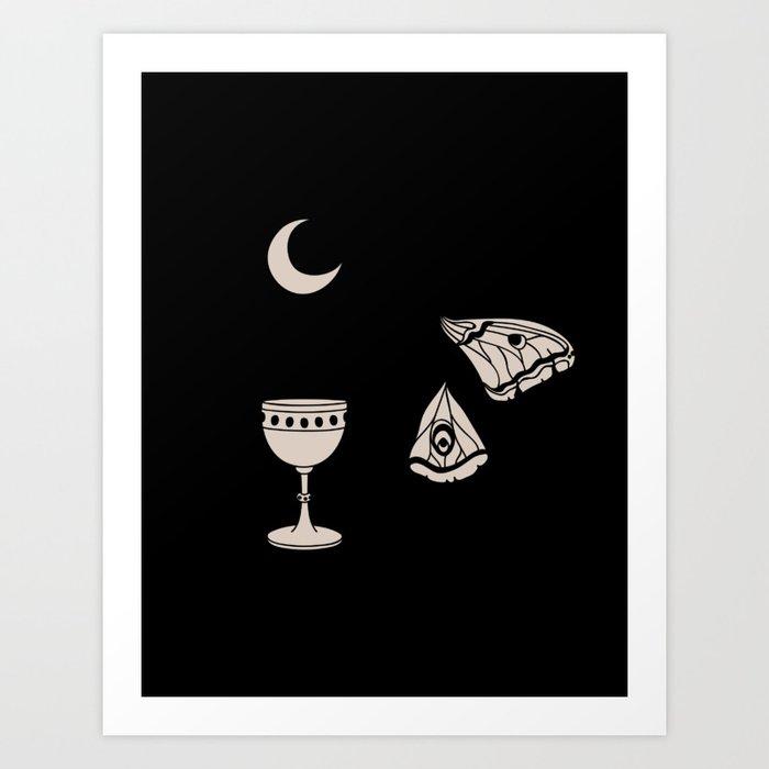 Moon Moth Chalice Art Print
