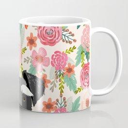 Schnauzer dog head floral background flower schnauzers pet portrait Coffee Mug