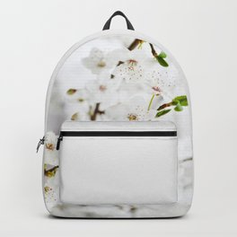 White blooming Backpack