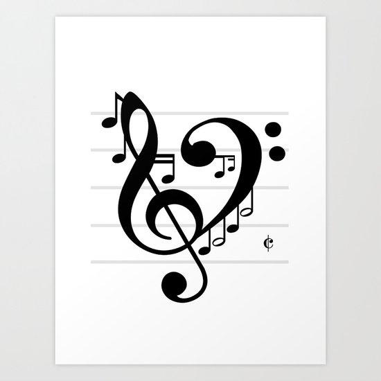 Love Music II Art Print