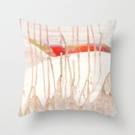 Over The Snowy Hills Throw Pillow