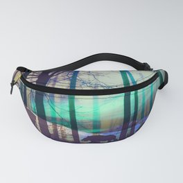 Northern lights abstract Fanny Pack