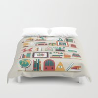 budi Duvet Covers featuring The shelf by Picomodi
