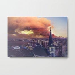 Smoky City Metal Print