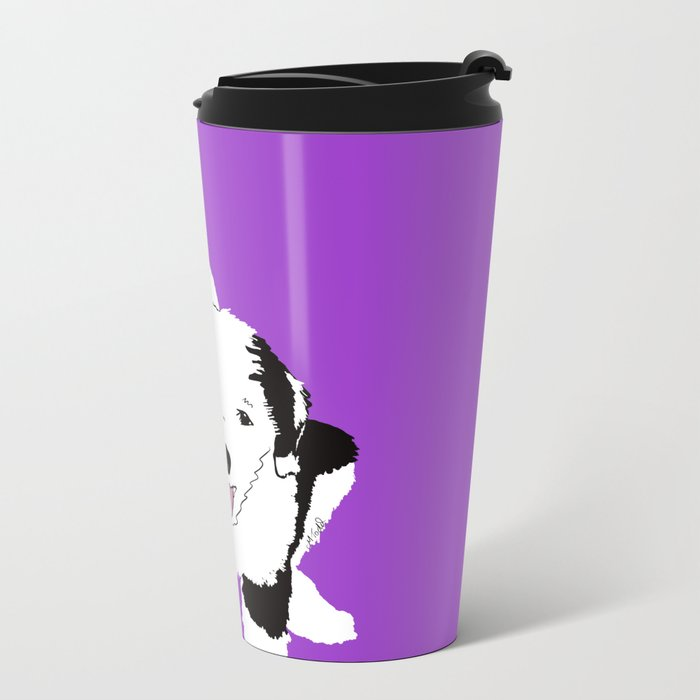 Gypsy The Sheepadoodle Metal Travel Mug