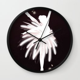 Space Ballerina (2 of 3) Wall Clock