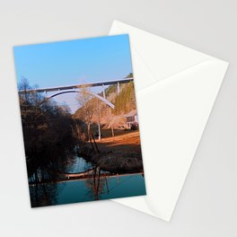 A bridge, the valley and beautiful reflections | Architectural photography Stationery Cards