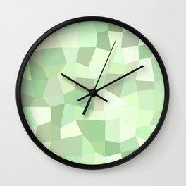 Pastel Green Mosaic Wall Clock