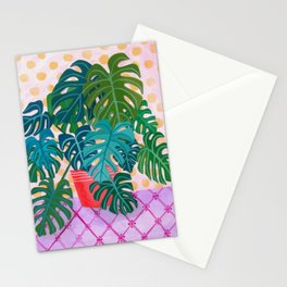 Monstera Houseplant Painting Stationery Cards
