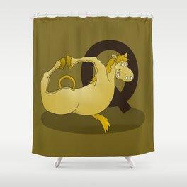 Monogram Q Pony Shower Curtain