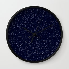 Chemicals and Constellations Wall Clock