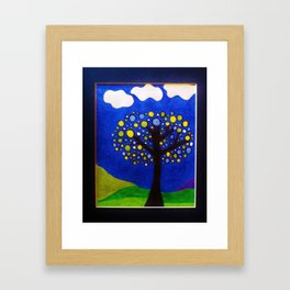 Tree at Dusk by Anthony Davais Framed Art Print