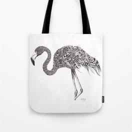 Zentangle Flamingo Tote Bag