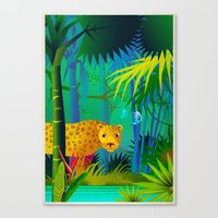 panther Canvas Prints featuring Panther by Nato Gomes