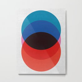 Blue and red circles Metal Print