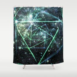 Abstract Triangle Nebula Shower Curtain