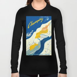 Vintage Champery Switzerland Travel Long Sleeve T-shirt
