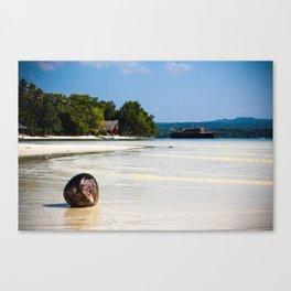 Coconut Beach Canvas Print