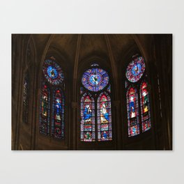 Notre Dame Stained Glass Canvas Print