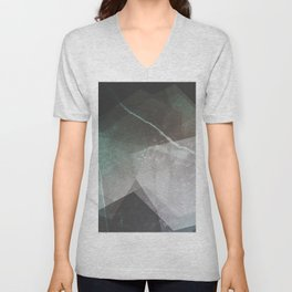 Marble Teal Layers Unisex V-Neck