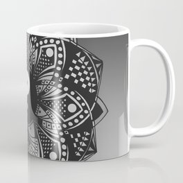 Yin and Yang Mandala (Black & White) Coffee Mug