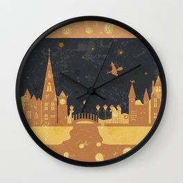 Halloween . Grunge . Wall Clock