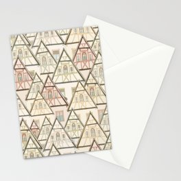 Pattern Houses Stationery Cards