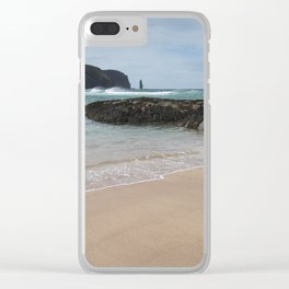 Sandwood Bay with Sea Stack Clear iPhone Case