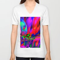 cracked V-neck T-shirts featuring Cracked by David  Gough