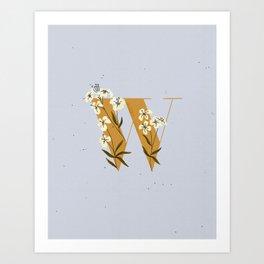 W for Wallflower Art Print