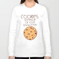 cookies Long Sleeve T-shirts featuring Cookies by Mim sh.