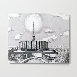 Provo Utah Temple Metal Print