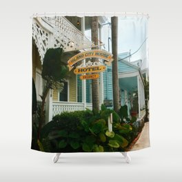 The colorful streets of Key West Shower Curtain