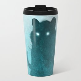 Space Tiger Silhouette Travel Mug