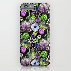 Purple Lime Floral iPhone 6s Slim Case