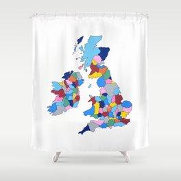 England, Ireland, Scotland & Wales Shower Curtain