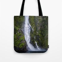waterfall Tote Bags featuring Waterfall.. by Michelle McConnell