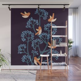 Birds Are singing Wall Mural