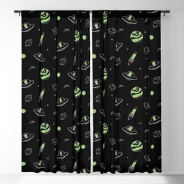 Outer Space (Black) Blackout Curtain