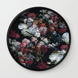 FLOWERS FLOWERS FLOWERS ... JUST FLOWERS (FLORAL) Wall Clock