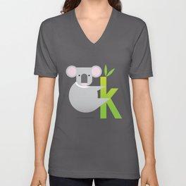 K for Koala Unisex V-Neck