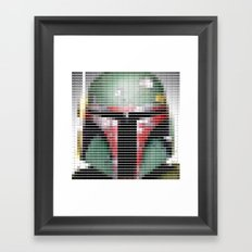 Boba Fett - StarWars - Pantone Swatch Art Framed Art Print