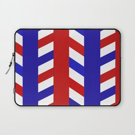 Striped Red Blue Pattern Laptop Sleeve