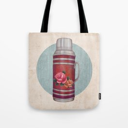Retro Warm Water Jar Tote Bag