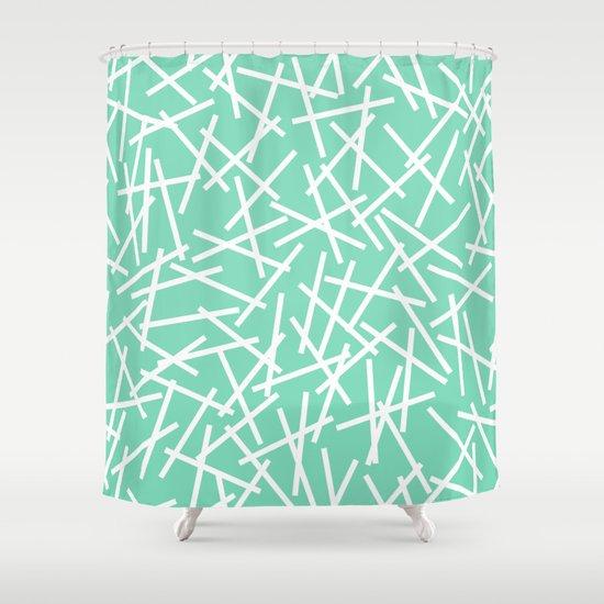 Kerplunk Mint Shower Curtain